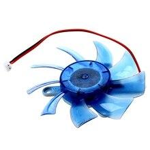 75 мм 2 контактный разъем 12VDC синий Пластик VGA охлаждение для видеокарты вентилятор кулер для компьютера
