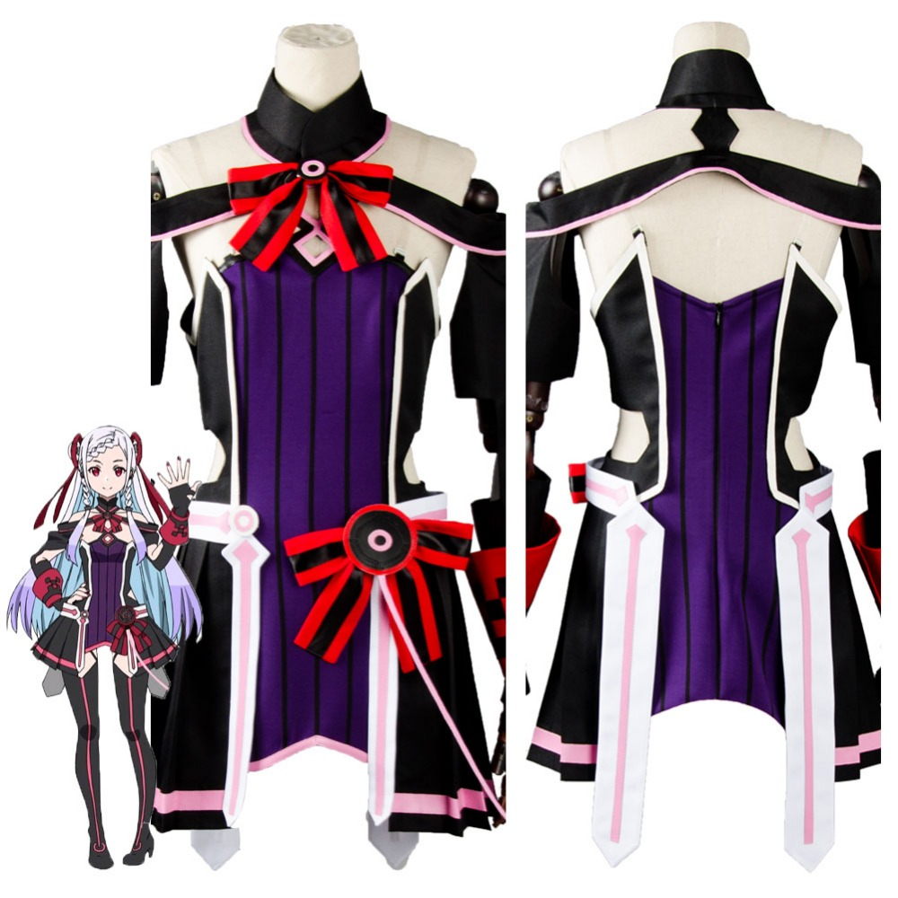 Sword Art Online SAO the Movie Ordinal Scale OS Yuna Cosplay Costume Dress Suit