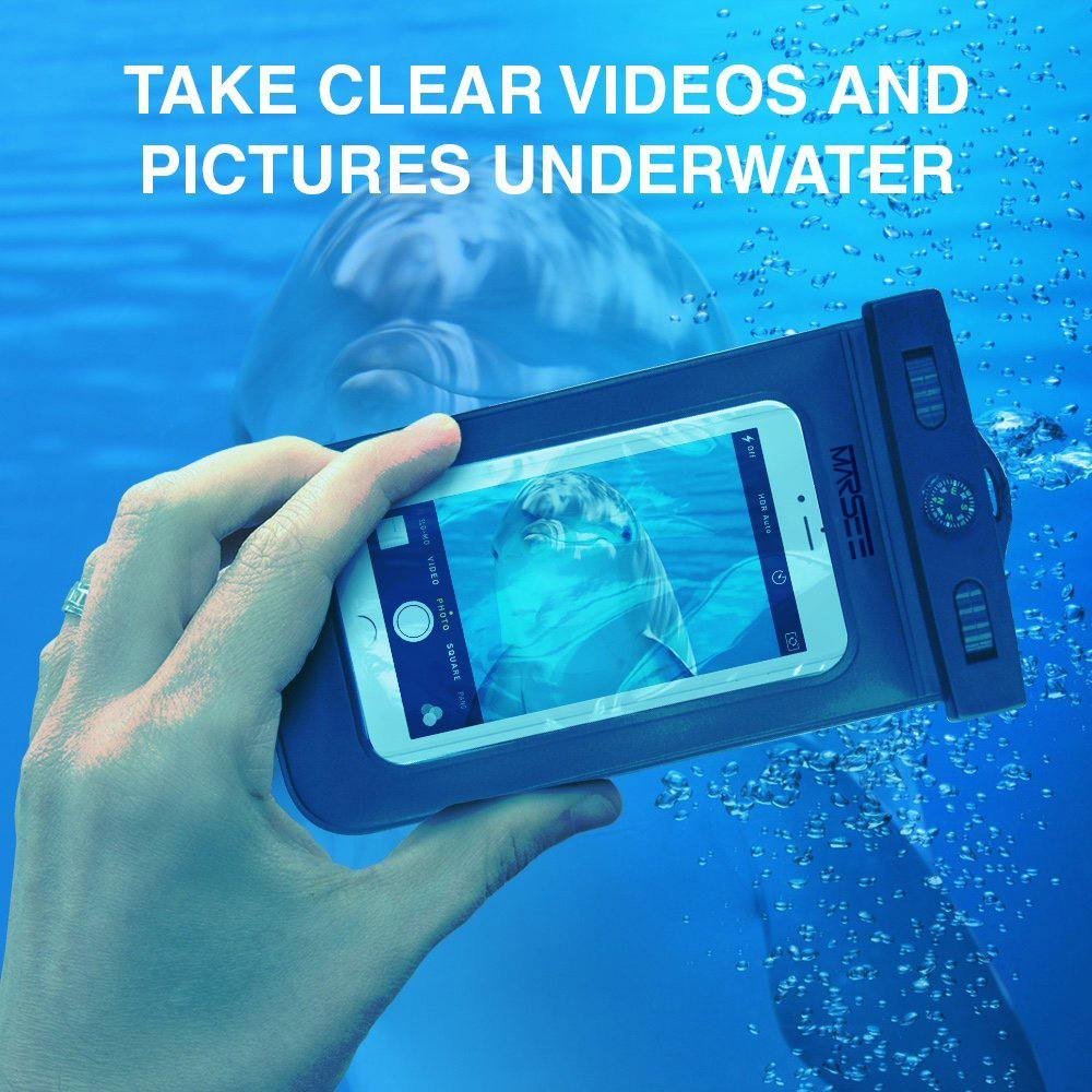 Universal Waterproof Phone Case with COMPASS LANYARD,Best Water Proof, Dustproof, Snow proof Dry Bag for Any Cell Phones