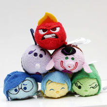 Tsum Tsum Inside Out cartoon plush toys sadness disgust charem anger joy cute mini screen cleaner dolls keychain pendant toy