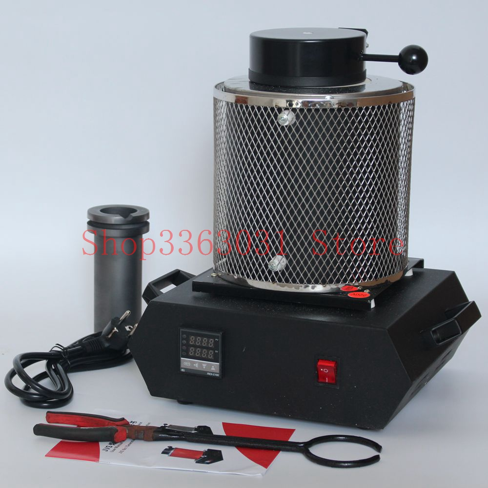 1kg 2kg 110V/220V Jewelry Melting Furnace Machine for Refining Casting Gold Silver gold melting furnace machine 1kg casting refining precious metals melts gold silver copper tin aluminum