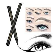 New 1pc Black/Brown Liquid Eyeliner Pencil Cosmetic Waterproof Long Lasting Smooth Fast Dry Eye Liner Pen Makeup Tool