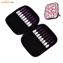 KOKNIT 16pcs Crochet Hooks Sets Mix 1.0-6.0mm Aluminum Needles Yarn Weave Knitting Needle With Case For Mom Gift