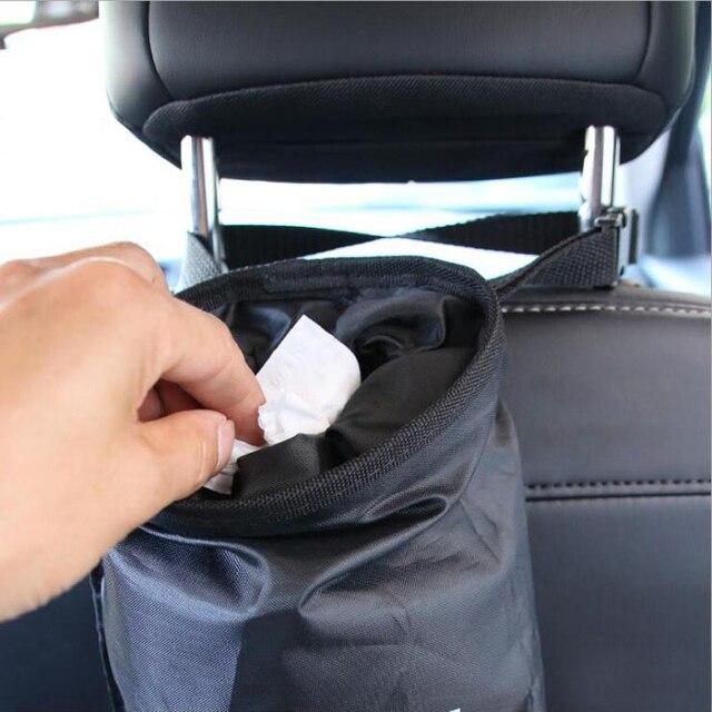Bolsa de basura de coche, bolsa de basura, almacenamiento de respaldo de asiento, caja de basura, caja, artículos diversos, organizador, bolsas de bolsillo, accesorios para cubos de basura