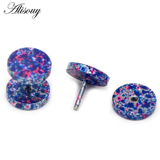Alisouy 2Pcs New Earrings Fashion Jewelry Women s Ear Stud Barbell Piercing Punk Men Earrings 10.jpg 640x640 - Alisouy 2Pcs New Earrings Fashion Jewelry Women's Ear Stud Barbell Piercing Punk Men Earrings 10 color studs piercing