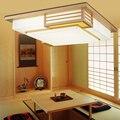 Твердая древесина спальня японская Светодиодная потолочная лампа промышленные лампы винтажные lampara de techo LED imperna