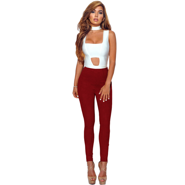 Elegant and Warm High Waisted Faux Suede Leggings