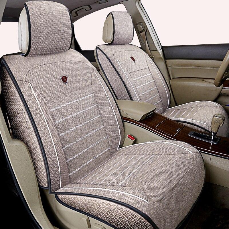 High quality linen Universal car seat cover for Nissan X trail t31 Tiida Juke Teana Qashqai