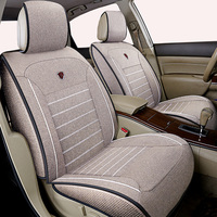 High quality linen Universal car seat cover for Nissan X trail t31 Tiida Juke Teana Qashqai murano car accessories car sticker