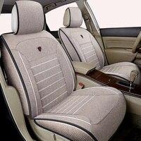 High quality linen Universal car seat cover for Nissan X trail t31 Tiida Juke Teana Qashqai murano car accessories car sticker