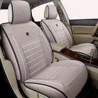 Housse de siège de voiture universelle en lin de haute qualité pour Nissan x-trail t31 Tiida Juke Teana Qashqai murano accessoires de voiture autocollant de voiture