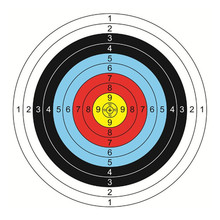 20 шт стандартное оборудование для стрельбы из лука с красочным принтом для стрельбы из лука и стрел Бумажная мишень для стрельбы из лука