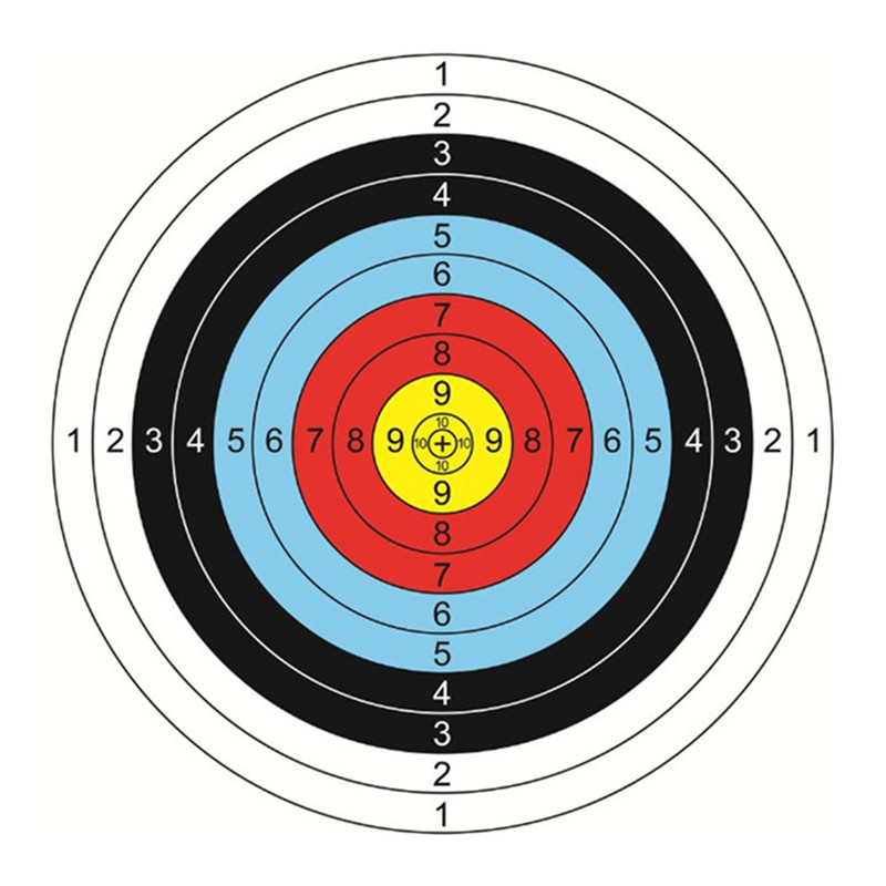 20PCS Standard Archery Target Equipment Colorful Print Shooting Target By Bow Arrow Practice Archery Target Paper