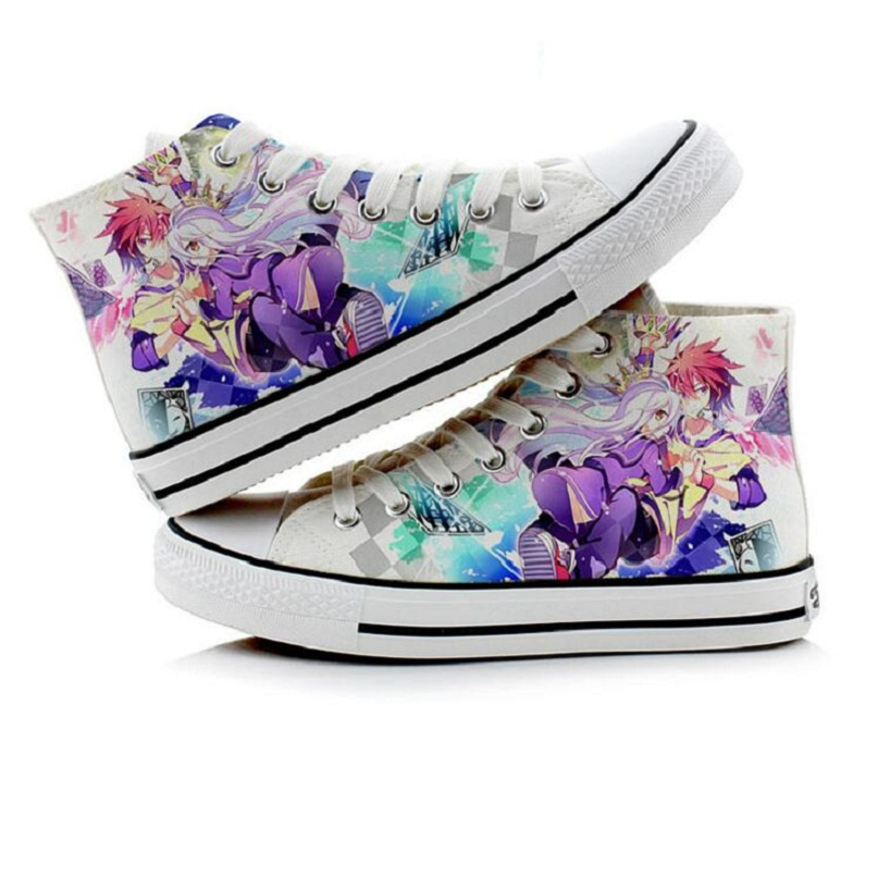 High-Q Unisex Anime Cos NO GAME NO LIFE Imanity Sora Cosplay Casual Canvas Shoes Plimsolls