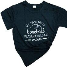 da288ff88 my favorite baseball player calls me mom T-Shirt Baseball Grunge Slogan  mother's day graphic