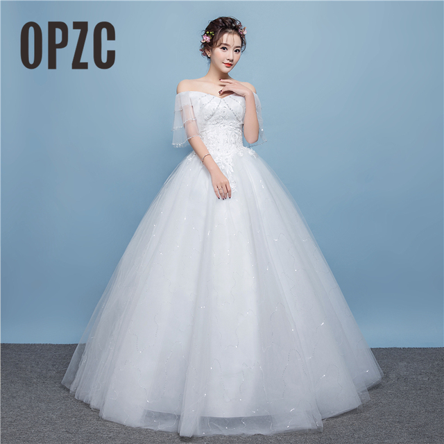 2018 New Arrival Lace Up Wedding Dress Tiered Shoulder Exquisite ...