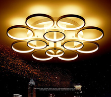 Creative circle ceiling lamp Acrylic Ring Light Fixtures for bedroom living room lamparas de techo led luminarias para teto стоимость