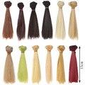 1 шт. 15 см * 100 СМ кукла Парики/волос refires bjd волос черное золото коричневый зеленый прямой парик волос для 1/3 1/4 BJD/SD diy Моделирование