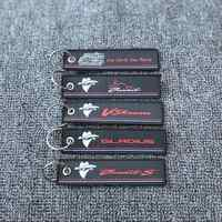 Motorrad Schlüssel Kette Woven Schlüssel Ring Tag Label Kette Für Suzuki Bandits Gladius Bandit V-Strom
