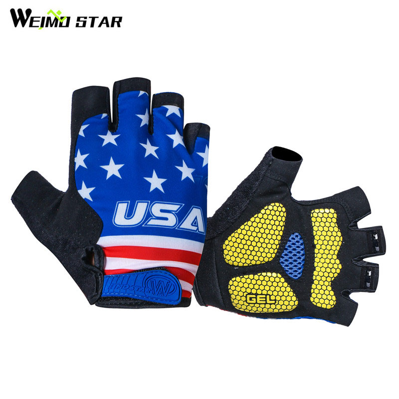Weimostar USA Radfahren Handschuhe Half Finger Shockproof Gel Pad Fahrrad Handschuhe Atmungs Mtb Handschuhe guantes ciclismo