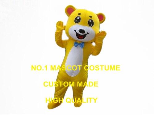 Orso giallo costume della mascotte costume adulto dimensione dei
