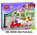 2016 New Bela 10535 90Pcs Friends Stephanie's Pizzeria Model Building Kit Blocks Brick Girl Toy Gift Lepin 41092