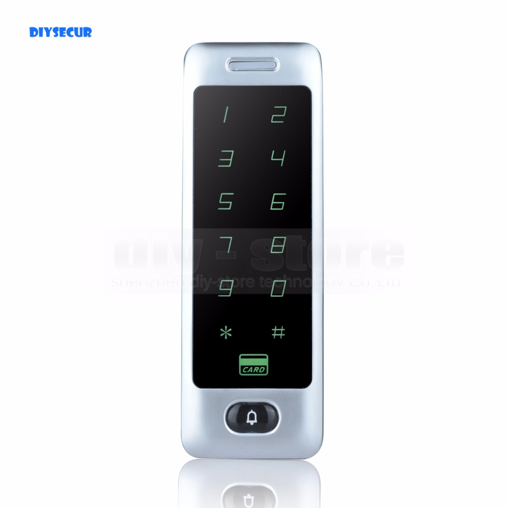 DIYSECUR 125KHz Rfid Card Reader Door Access Controller System Touch Panel Password Keypad C40 original access control card reader without keypad smart card reader 125khz rfid card reader door access reader manufacture