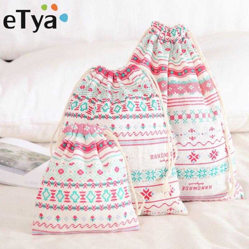 ETya Fashion Women Travel Shoes Bag Ladies Portable Drawstring Cosmetic Bag Quality Clothes Storage Case Handbag Makeup Pouch