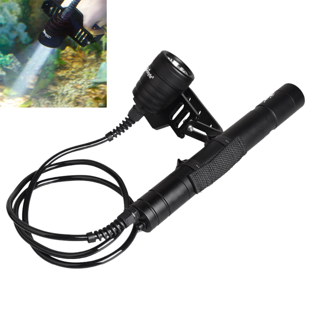 Brinyte DIV09 CREE XM-L2 LED Waterproof Scuba Canister Diving Flashlight 26650 Underwater Mergulho Lantern Light for Explore 100m underwater diving flashlight led scuba flashlights light torch diver cree xm l2 use 18650 or 26650 rechargeable batteries