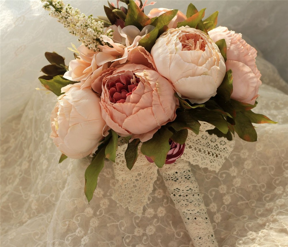 Artificial flower Wedding Bouquet Bouquet Bridal Bouquet Bridesmaid Wedding Decoration Event Party Supplies buques de noivas (8)