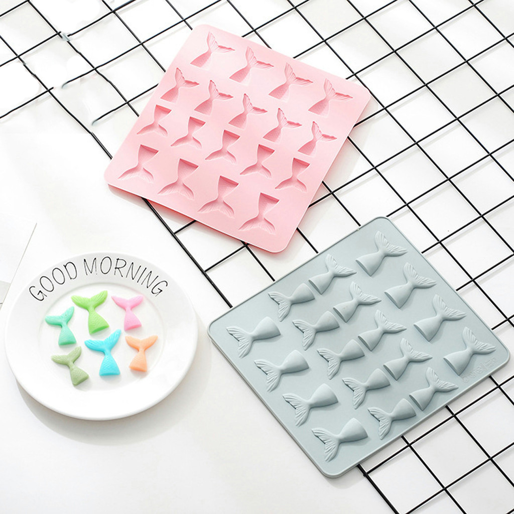silicone ice cube tray Silicone Shape Cake Cookie Chocolate Mould Ice Tray Mold Baking Tray 3D ice cream mold ice cream party