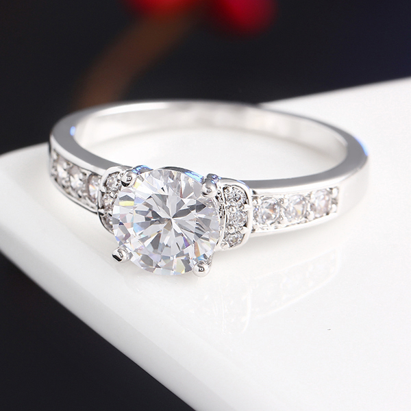 iMixBox New Charm Anniversary Appointment Wedding Ring Cubic