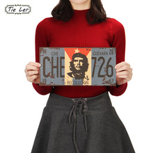 TIE LER 2PCS Che Guevara Retro Posters Advertising Nostalgic Old Bar Decorative Painting Vintage Wall Sticker 30X15cm(China)