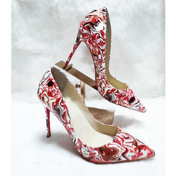 Classical Design Pointed Toe Shallow Colorful Print Women High Heels Dress Shoes - DISCOUNT ITEM  0% OFF All Category