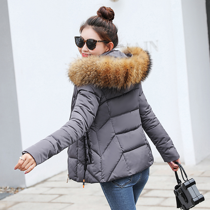 Winter Jacket Coat Long Parkas Artificial-Fur-Collar Female Warm Big-Size Women XXXL