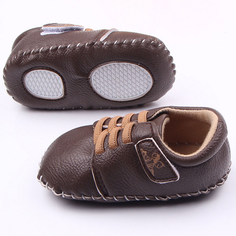 Baby boy girl dobrze PU ręcznie szycie miękkie dno buty dla dzieci - Buty dziecięce - Zdjęcie 5
