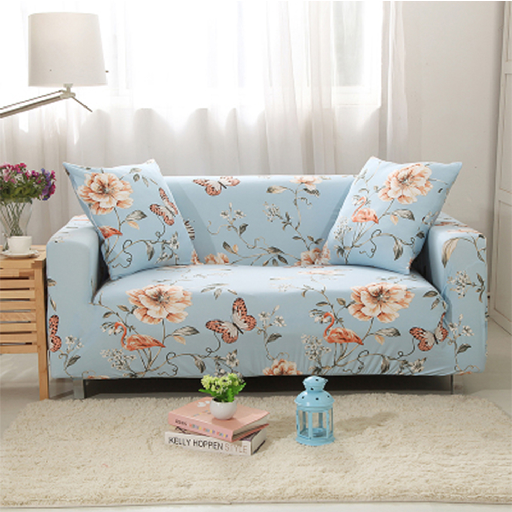 Yazi Pastoral Floral Stretch Single Double Seat Sofa Cover For 1 2 3 4 Seater  Couch ...