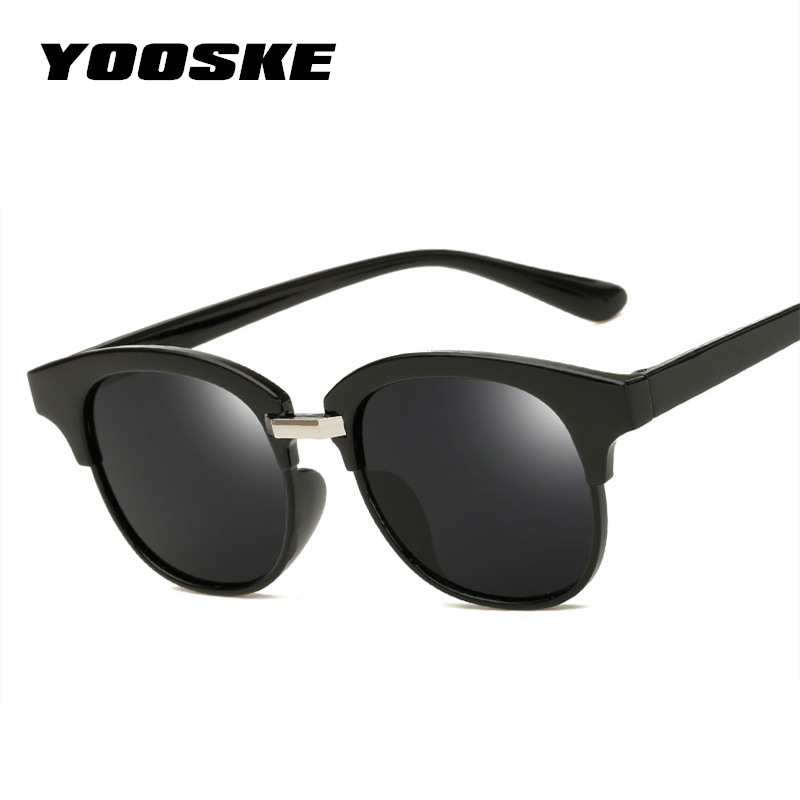 YOOSKE Vintage Women Sunglasses Cat eye Eyewear Brand Designer Retro Mirror Sunglass Female UV400 Reflection Sun glasses reflection