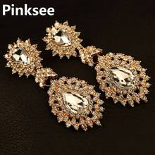 Elegant Cubic Zirconia Crystal Big Chandelier Earrings For Women Lady Fashion Wedding Party Long Earrings Jewelry цены