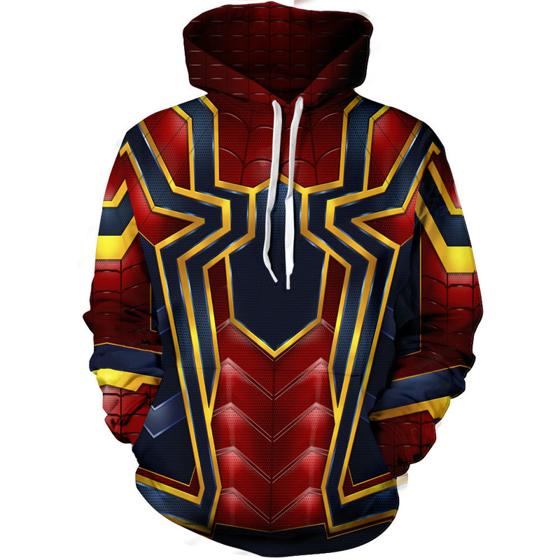 Hoodies & Sweatshirts Infinity War Iron Spider Zip Up Hoodie Zipper Sweatshirt Spiderman 3D Hoodies Sleeve Knitted Jackets Casua