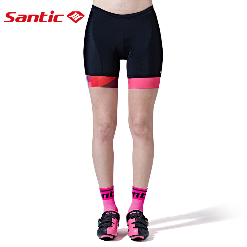 Santic Wonder Women Cycling Shorts Mtb Shorts Maillot Bermuda Ciclismo Bicycle Shorts Women Cuissard Velo Homme Pro Gel 5082 in Cycling Shorts from Sports Entertainment