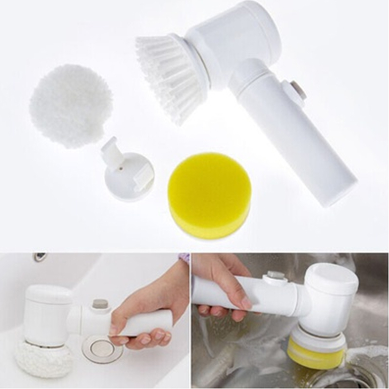 Nylon Hogar Multifuncional Eléctrico Herramientas 5 en 1 Cepillo de Limpieza Bañ