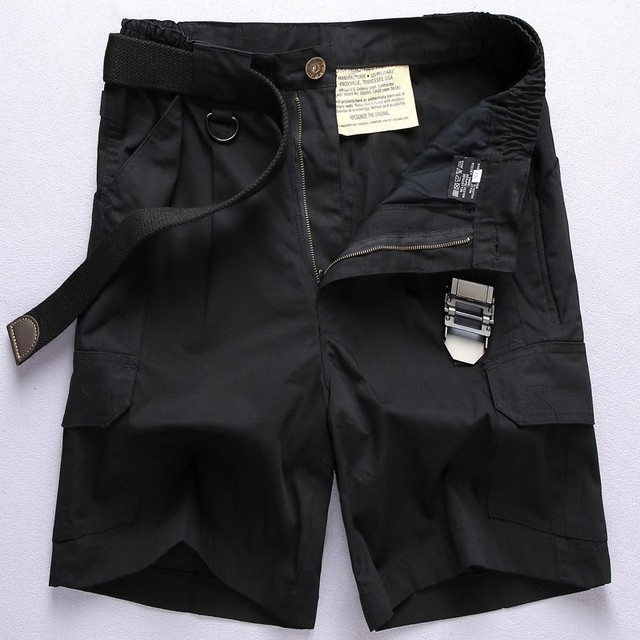 Multi-Pocket Camo Mens Casual Loose Shorts Cargo Pants Beach Wading Shorts