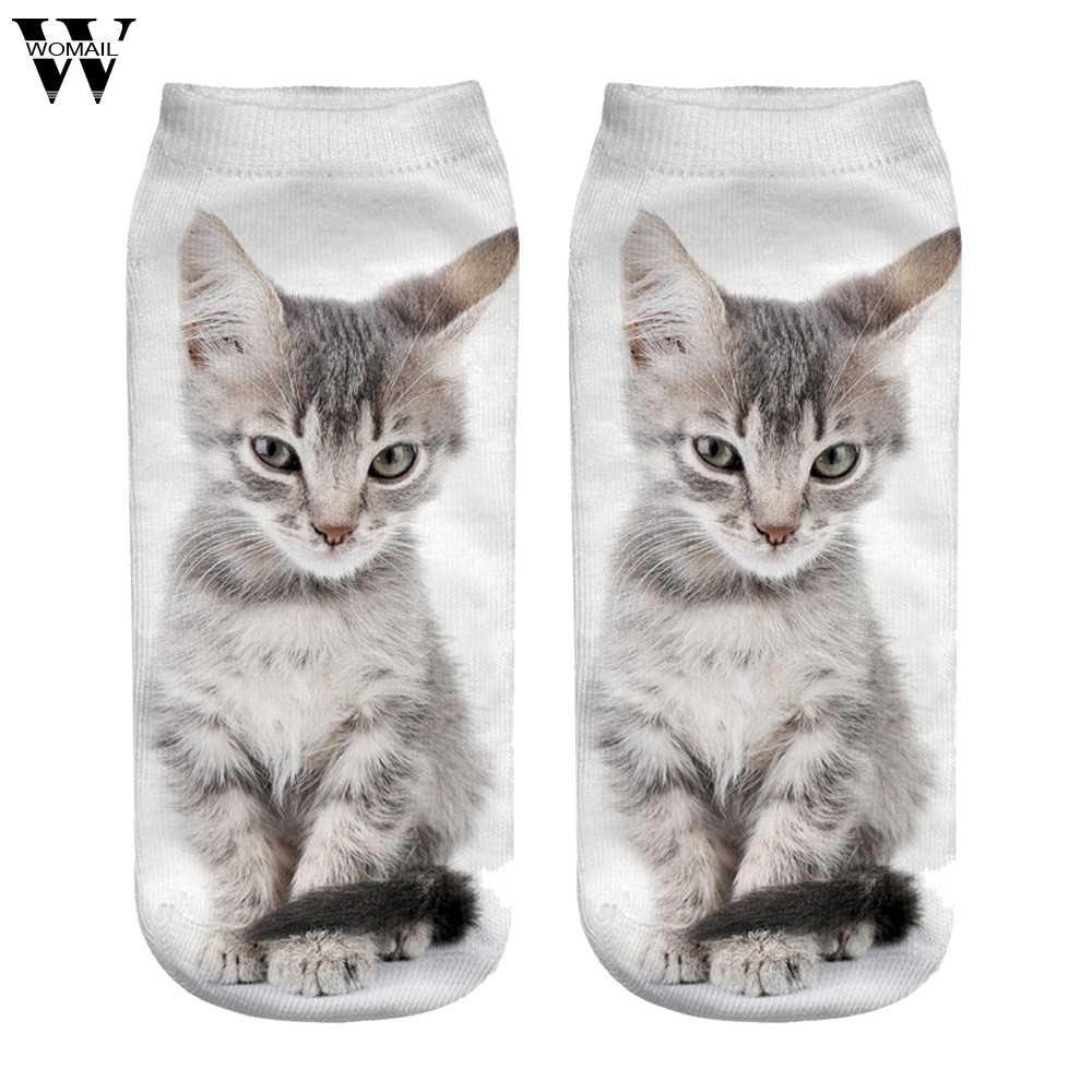 4be85502ef7c40 Новинка, хит продаж, женские рождественские носки с 3D принтом, брендовые  модные рождественские носки