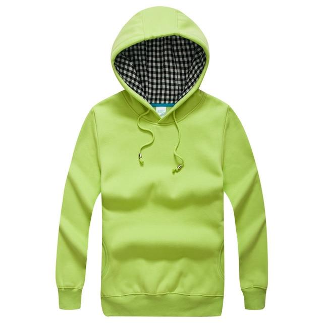 Blank Mens Hoody Hooded Unisex Fleece Pullover Womens Outerwear ...
