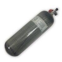 CE сертификация 4500psi 300bar 9L высокое Давление композитного углеродного волокна цилиндр для pcp air tank для охоты с красным клапан