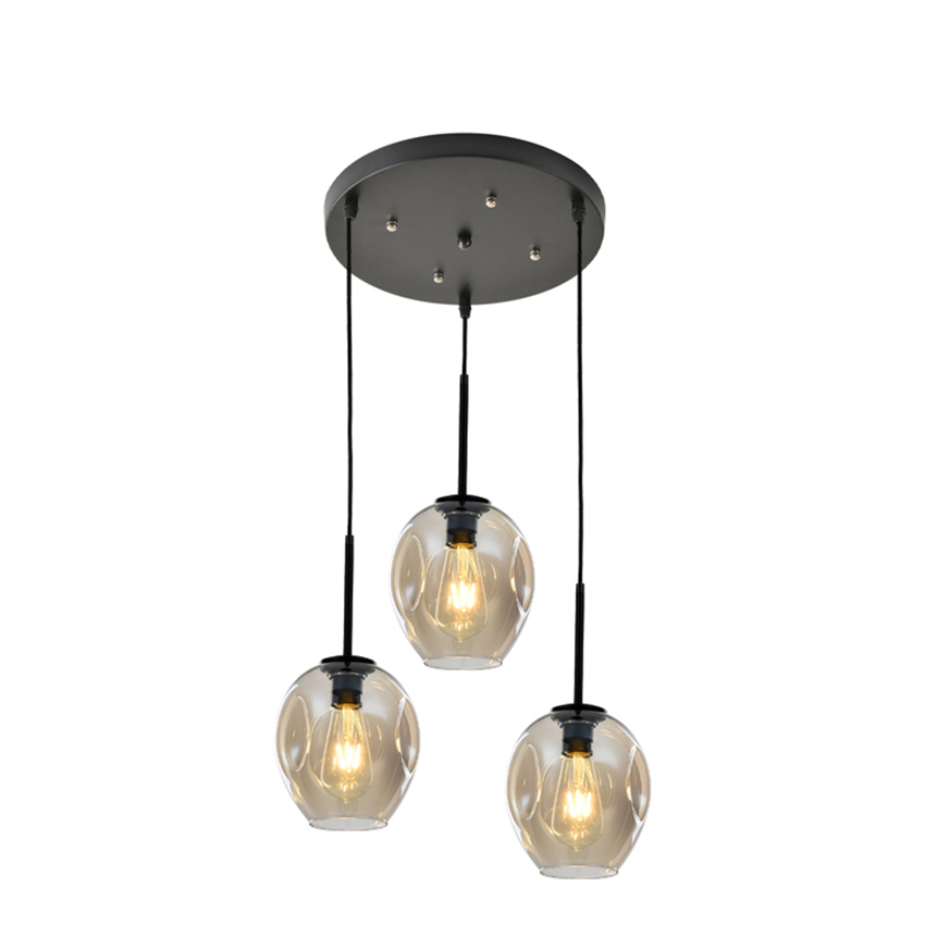 Modern Glass Led Pendant Lamp Lights1/3 Heads AC 60-260v Living Room Lighting Chandelier Restaurant Hanging Lamp Furniture Decor