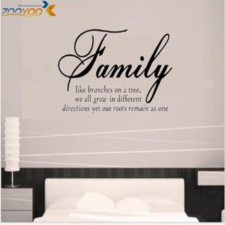 Aliexpress Com Buy Family Like Branches Home Decor Creative Quote