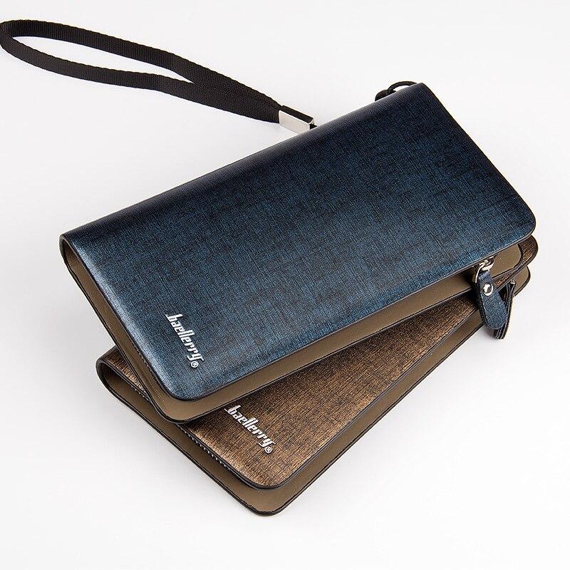 Fashion Men Wallets PU Leather Long Design Wallet Clutch Bags Card Holder Male Coin Purse Men'S Purse Leather Male Purses Hobo International Wallet