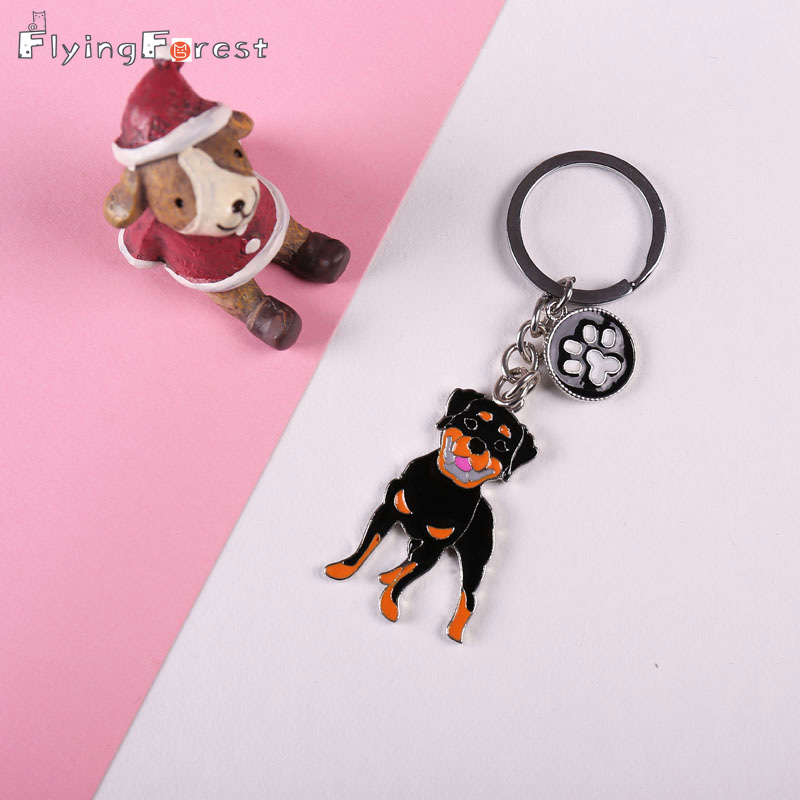 Ոսկերչական իրեր Metal Metal Dog Dog Key Chain Pug Ոտքեր կախազարդ Ոսկե Retriever Keychains Keychain Car Key Ring Ring նվեր լավագույն ընկերոջը